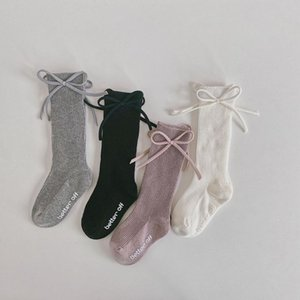 New Children Socks Bows GIrls Knee High Socks Non-slip Baby Toddler Infant Tube Long Kids Princess Sock High Quality