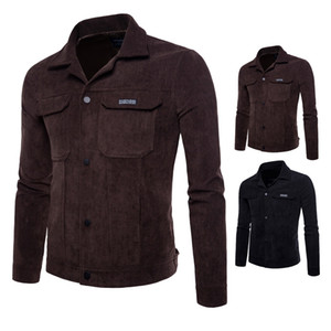 New arrival spring and autumn new men's casual jacket corduroy slim jacket mens designer winter coats hoodie K7AW-3083