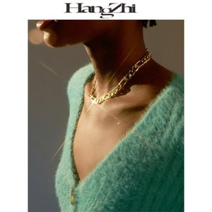 HANGZHI UO Figaro 2020 New Hip Hop Punk Urban Outfitters classic metal Necklace Chain For Men Women Girls Jewelry