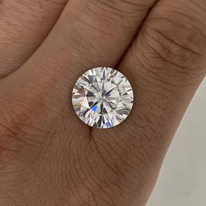 Grown moissanite stone 2carat 8mm IJ Color VVS1 Loose moissanite stone for Ring earrings jewelry making Q1120