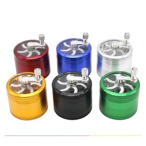 Dhl Free Grinder With Handle Aluminium Alloy Herb 55mm Diameter Grinders Tobacco Crusher 4 Layers Dab Tools For Smok bbytCC lg2010