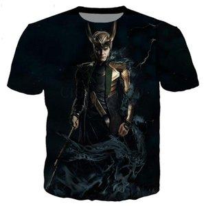 Yeni klasik Loki serisi t gömlek erkekler kadınlar 3D yenilik moda tshirt kalça hop streetwear gündelik yaz 1118 başında basılmış