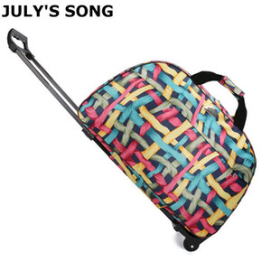 JULY'S SONG Travel Bag Big Capacity Suitcase With Wheels Business Use Portable Rolling Bags Plane Outdoors Use Adult LJ201118