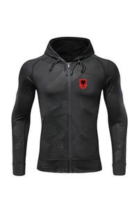 2021 Albania New Men's Soccer Jacket Design Best Adult Football sport coat Full Zip Warm upper outer garment