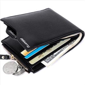 Venda quente Novo Design RFID Proteção Bloqueio de Paragem Carteira Vintage Homens Casuais Curta Bolsa PU Couro Zipper Moeda Caixa de Cartão Anti Roubo