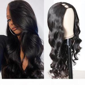 """Gagaqueen Brazilian Body Wave 2""""x4"""" U Part Wigs 150% Density Brazilian Human Hair Wigs Nature Color"""