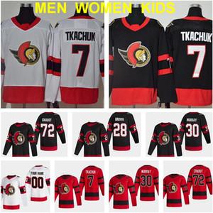 Reverse Retro Ottawa Senators 7 Brady Tkachuk Jersey 72 Thomas Chabo 30 Matt Murray 28 Connor Brown 9 Bobby Ryan 41 Craig Anderson Hóquei