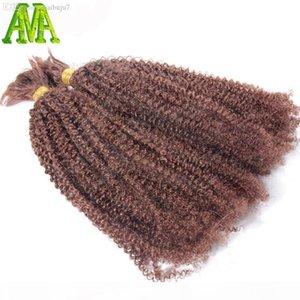 Wholesale-Afro Kinky Curly Bulk Hair Unprocessed Human Braiding Hair Bulk Kinky Curly Brazilian Human Hair For Braiding Bulk No Attachment