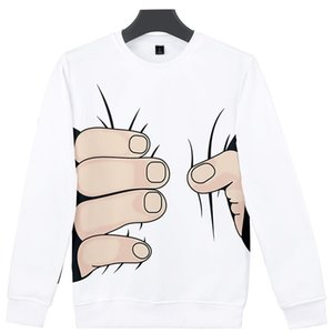 Funny Big Finger Costume 3d Hoodies Pullover Fashion Men Women Capless Sweatshirts Streetwear Long Sleeve O-neck Hoodie Tops 4XL