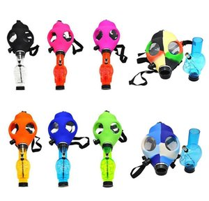 Gas Mask Sile Pipe With Acrylic Smoking Bong Solid Camo Colors Creative Design Dabber For Dry Herb Concentrate bbyEAM yh_pack