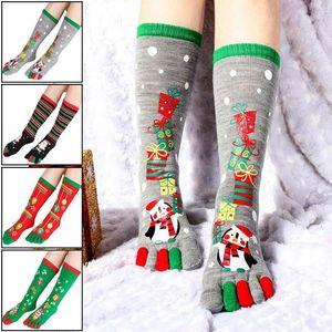 Fashion Christmas Toe Socks Santa Claus Regalo Bambini Unisex Xmas Divertente Cartoon Calzini stampati Signora Donne Santa Calze Sox 2020