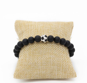 Sport Jewelry Beads Nature Bracelet Soccer football Stone Bracelet Charm Men sqcjR beauty888