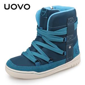 UOVO бренд 2020 детей зимняя обувь мода детей случайные спортивные туфли для мальчиков и девочек Высокопроизводительные детские кроссовки размером 28 # -39 # C1120