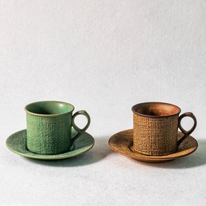 DHL Japanese stoneware handmade coffee cup and saucer afternoon tea tea set hand-made small exquisite espresso latte coffee cup