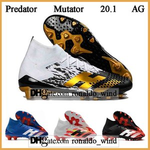 GIFT BAG Mens High Tops Football Boots Predator Mutator 20.1 Firm Ground Soccer Cleats POGBA Predator 20.1 AG Outdoor Soccer Shoes