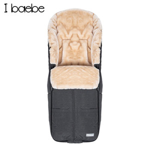 Winter Baby Sleeping Bag Warm Faux Cashmere Sleep Sack In The Stroller Outdoor Snowproof Infant Swaddling Cocoon For Sleep 3-36M 201128