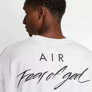 20 ss nrg luft furcht vor Gott t-shirts nebel oversize tee für männer frauen marke kollaboration designer t casual jersey shirt hip hop skateboardm7h8