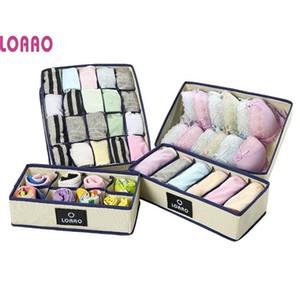 LOAAO new Box bag Home Organizer boxes underwear necktie socks Eco-Friendly bra Storage Bins Z1123