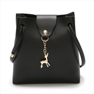 Hot Sale Fashion Mini Handbag Women Purse PU Leather Bag With Deer Toy Bolsa Feminina Bolsos Mujer