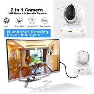 3MP PTZ USB Webcam for Online Video Demo Show & Remote Home Alarm Wifi Security Camera with Smart AI Voice Control by AMZ Alexa