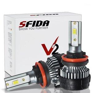 1set*All In One LED Car Headlight V2 H1 H3 H4 H7 H11 9005 9006 8000LM LED Headlight For Cars1