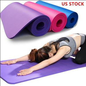 Schiff von USA NBR Yoga-Matten Übung Pad verliert Gewicht Fest Farbe Sport Gesundheit 183 * 61cm Yoga-Decke FY6016