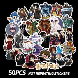 Harry Potter Stick 50 pcs Harry Potter Pastores Fãs Decalques Scrapbooking DIY Adesivos Decorações Telefone À Prova D 'Água Acessórios Dos Desenhos Animados Presentes