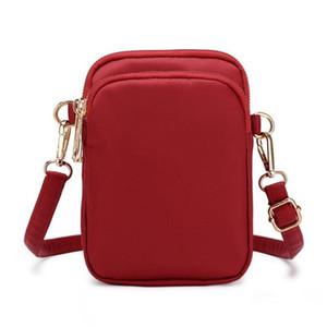 Entre petit sac de crossbody 3 zippers porte-monnaie de téléphone portable nylon pour femmes