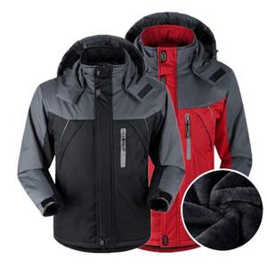 Winter Hiking Jacket Men's Windproof Waterproof Warm Outdoor Sport Coat Male Thermal Trekking Hunting Camping Climbing Jacket
