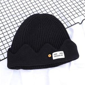 Men Autumn And Winter Plus Velvet Warm Knit Hat Double-Sided Wear Skullies Beanies Hat Fashion Outdoors Ski Leisuremale Z57#128