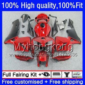100% Fit For HONDA CBR600F5 CBR600 RR CBR600RR 05 48HM.221 CBR 600RR CBR 600 CC RR 600CC F5 05 06 2005 2006 Injection Fairings Metal red hot