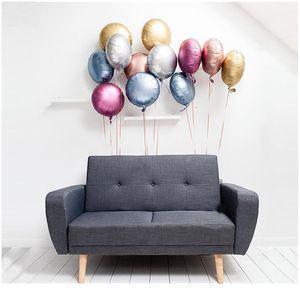 New 10pcs 18inch Chrome Metallic Heart Star Round Helium Foil Balloons Baby 1st Birthday Party Supplies Wedding Decor Ai jllbzg