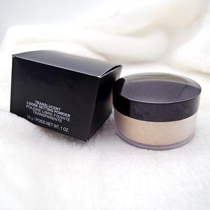 Dropshipping nuevo paquete en la base de la caja negra Foundation Foot Configuración de polvo Fixup Powder Min Poro Iluminar Corrector