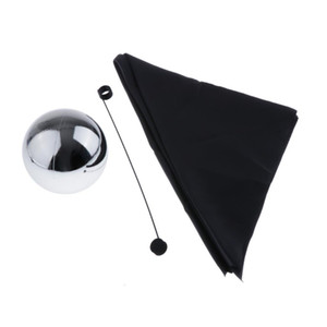 Ball (with Cloth and Rod) Floating Tricks Magician Props Stage Illusions Magic Gimmick Classic Toy (Diameter 12cm)