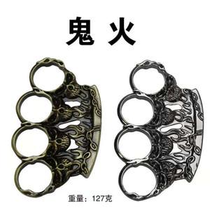 Defense tool hand Metal Skull buckle iron buckle four finger gloves tiger ring self defense support children pistol boxing