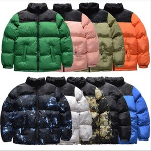 Mens Stylist Coat Leaves Printing Parka Winter Jacket Men Women Winter Feather Overcoat Jacket Down Jacket Coat Size M-3XL JK005