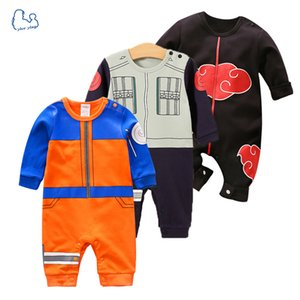 2019 Brand New Baby Rompers 100% Cotton Baby Jumpsuits Cartoon Naruto Style Long Sleeve Baby Boy Girl Clothes Z1121