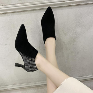 Martin boots Women High Heel Booties Large Fashion Female High-Heeled Boots Young Ladies Ankle Winter Zapatos De Mujer