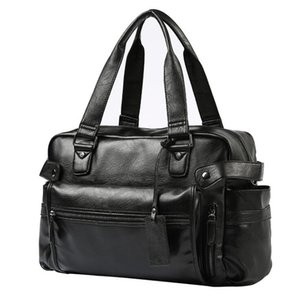 Фабрика оптом мужская сумка простая большая горизонтальная кожаная мужская ручная сумка улица мода плед бизнес сумки джокер карманные украшения досуг сумки