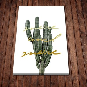 Cactus Cartoon Art Poster HD Canvas Print Home Decoration Living Room Bedroom Wall Stickers Art Picture HD Canvas