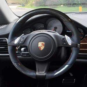 Capa de rodas Hand-Stitch em envoltório para Porsche Cayenne 2011-14 / Panamera 2010-16 / 911 2009-13 / Boxster 2009-15 / Cayman 2010-16