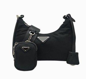 canvas women shoulder bag Designers Chest pack lady Tote chain handbags presbyopic purse messenger bag 2pcs