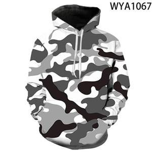 2021 3D Camouflage Hoodies Men 2021 New Fashion Sweatshirt Male Camo Hoody Hip Autumn Winter Hoodie Mens Clothing US EUR