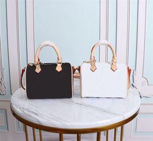 2021 Hot Original de Alta Qualidade Designer Bag Nano Speedy Mulher Bolsas De Couro Genuíno Bolsas De Couro Crossbodys Mini Saco