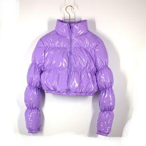 AtxYxta Puffer Chaqueta Recortada Parka Bubble Coat Winter Mujeres Nueva Moda Ropa Verde XL