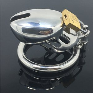 Cock Lock Cage Stainless Steel Lockable Penis Cage Penis Cock Ring Sleeve Male Chastity Device Cage Belt Cockring Sex Toys For Men MKC0 Mgsl