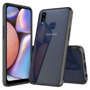 TPU + Funda híbrida transparente de cristal acrílico transparente para Samsung Galaxy A10 A10E A10S M30S M20 M10 Tapa a prueba de golpes anti-arañazos