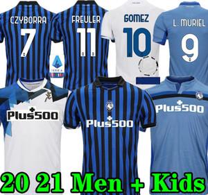 Nuevo 20 21 Atalanta Soccer Jersey Gómez L.Muriel Ilicic 2020 2021 Camisa de fútbol Hogar de terceros hombres + Kids Kit de Roon Duvan