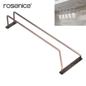 35cm Bronze Stemware Porte-grille à vin sous table Cabinet Table à vin Entreprise en verre Spendu Rail de suspension pour barre ou kitchen1