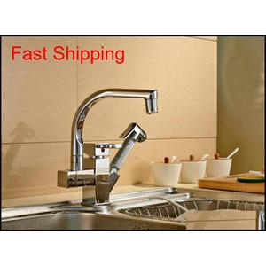 Colore a LED Charking Chrome Kitchen Faucet Tirare fuori becco Mixer T Jllboc BDEBAG